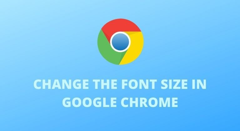 Font size in Google Chrome cover