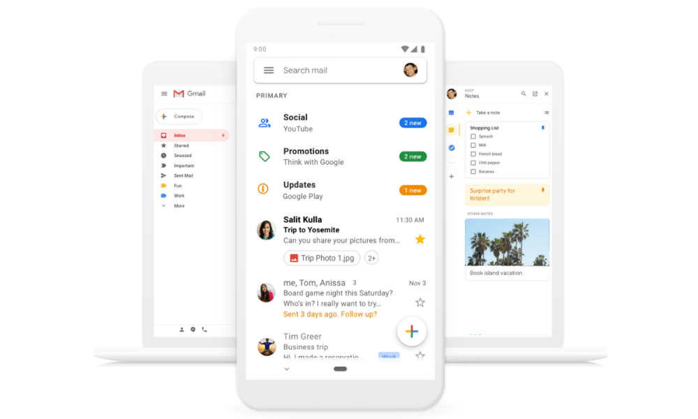 Googles Gmail får ny materialdesign, uppdateringar kommer snart